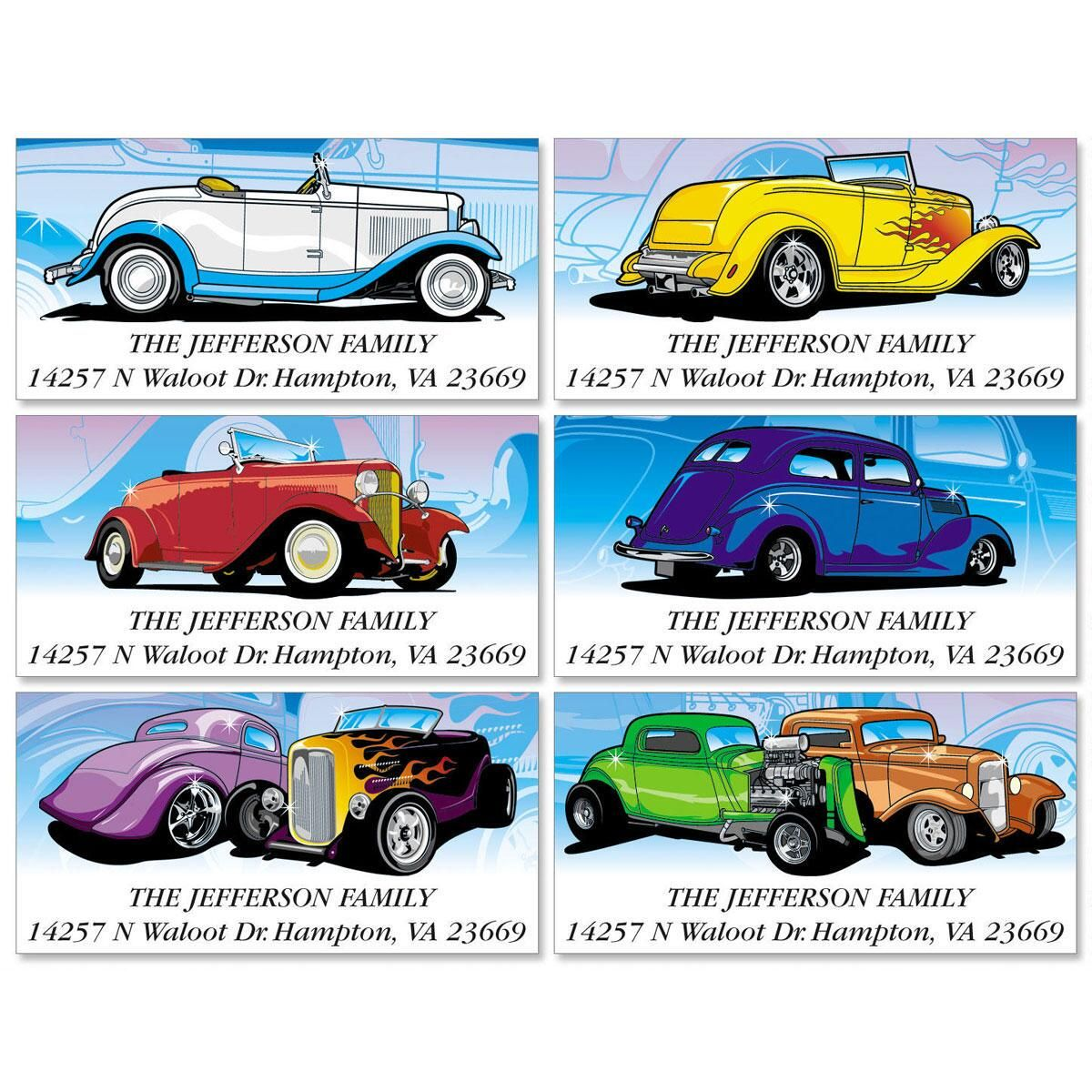 Nice Wheels Deluxe Address Labels   (6 Designs)