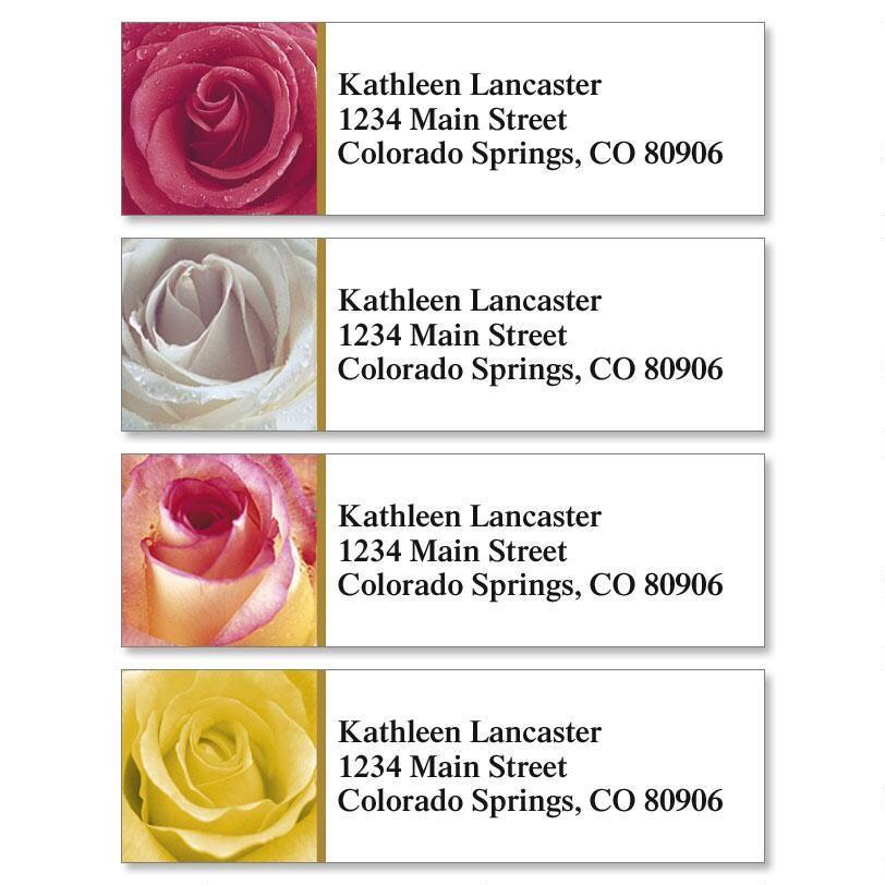 Fresh Roses Classic Return Address Labels  (4 Designs)