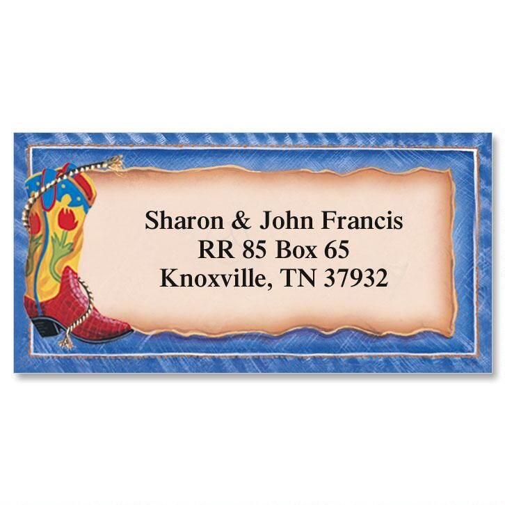 Rompin' Stompin' Boots  Border Address Labels