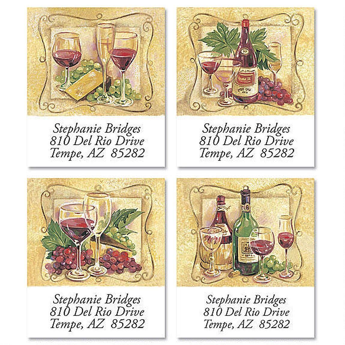 Wine Connoisseur Select Return Address Labels  (4 Designs)