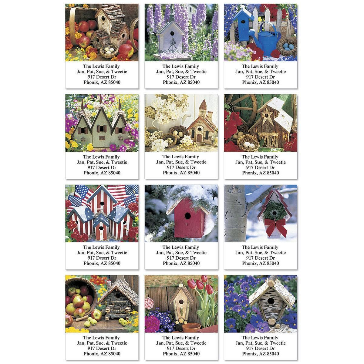 All-Seasons Birdhouses Select Address Labels  (12 Designs)