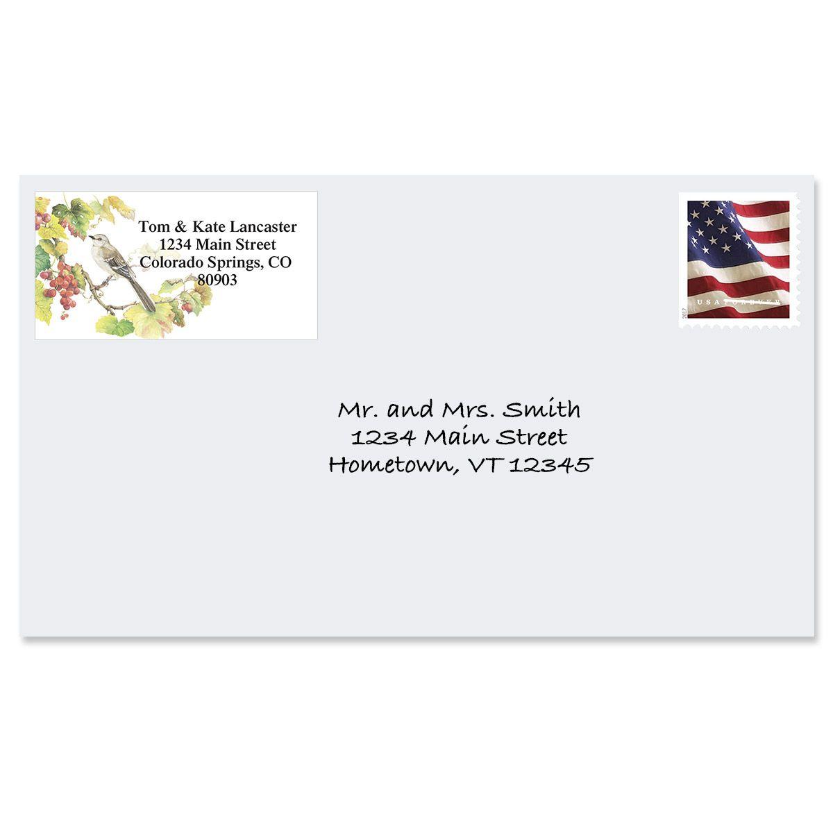 Songbirds  Border Return Address Labels  (6 Designs)