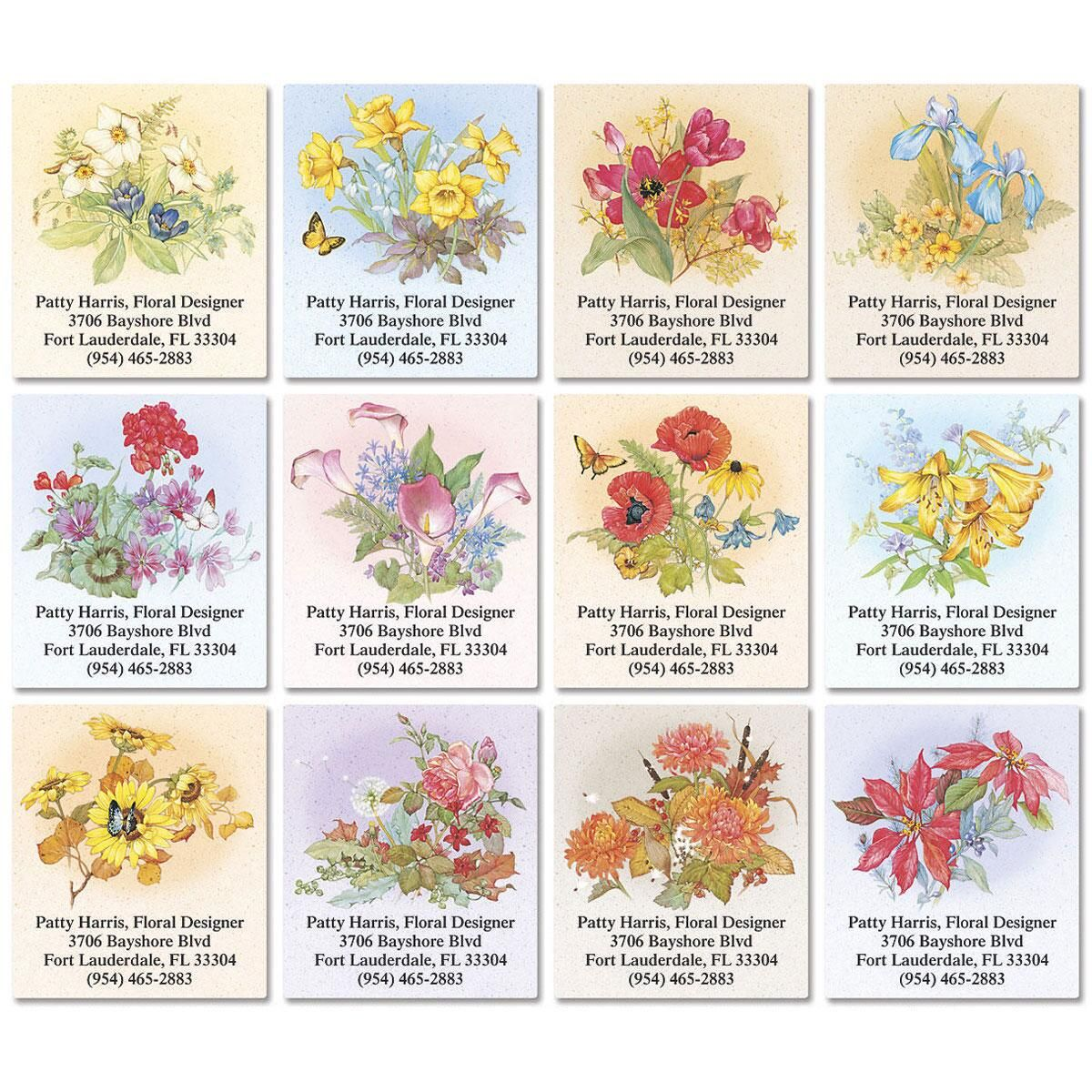 Magnificent Floral Select Address Labels   (12 Designs)