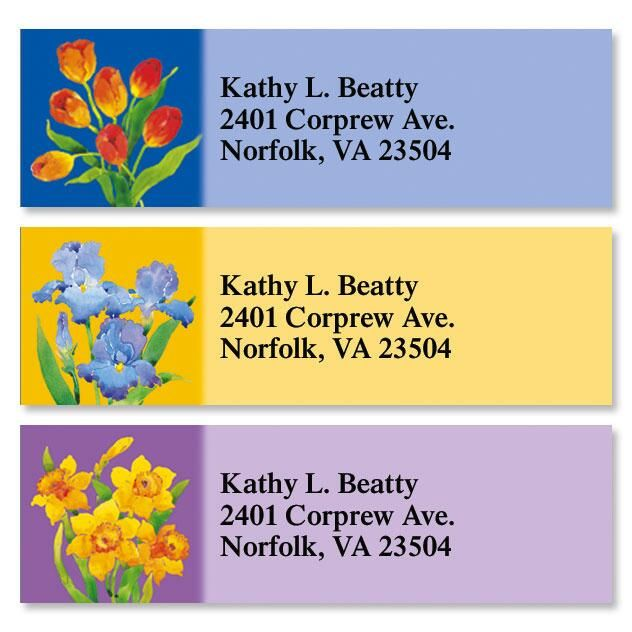 Tim's Florals Classic Address Labels  (3 Designs)