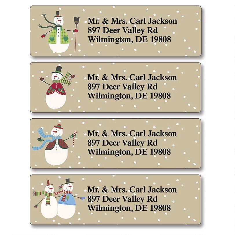 Let it Snow  Classic Return Address Labels  (4 Designs)