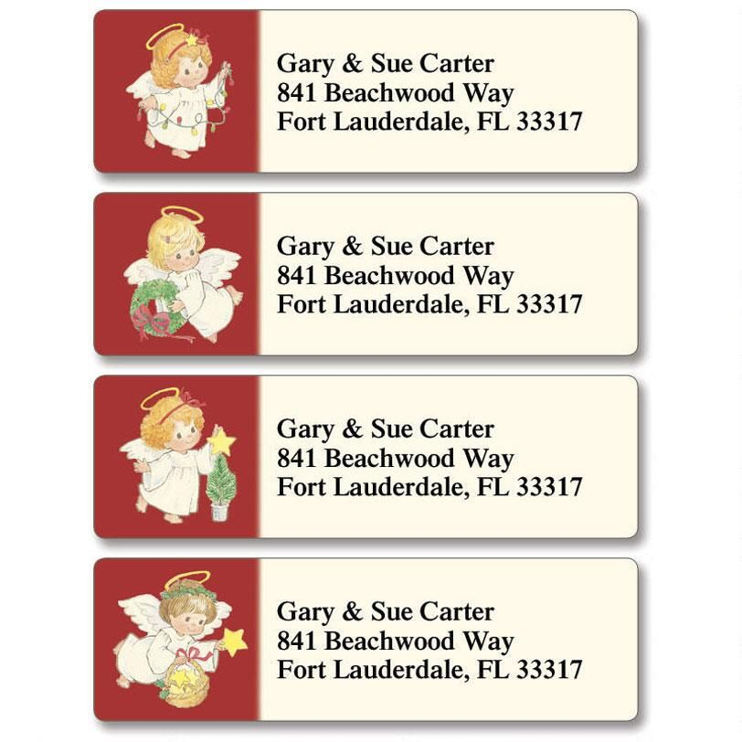 Baby Angels Classic Return Address Labels  (4 Designs)