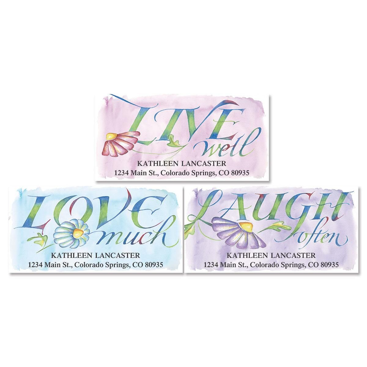 Live, Love, Laugh Deluxe Return Address Labels  (3 Designs)