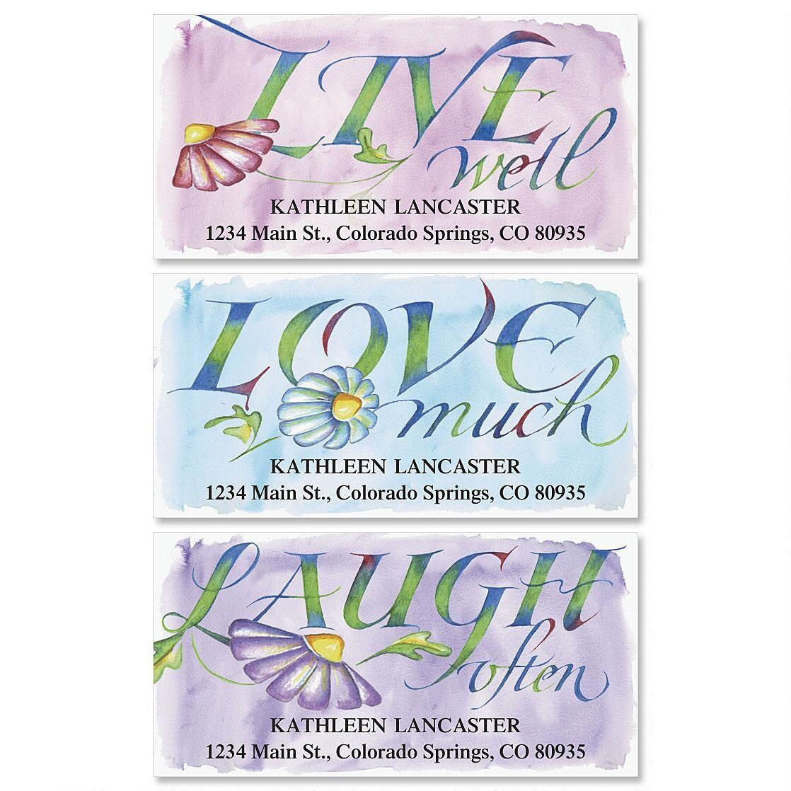 Live, Love, Laugh Deluxe Address Labels  (3 Designs)