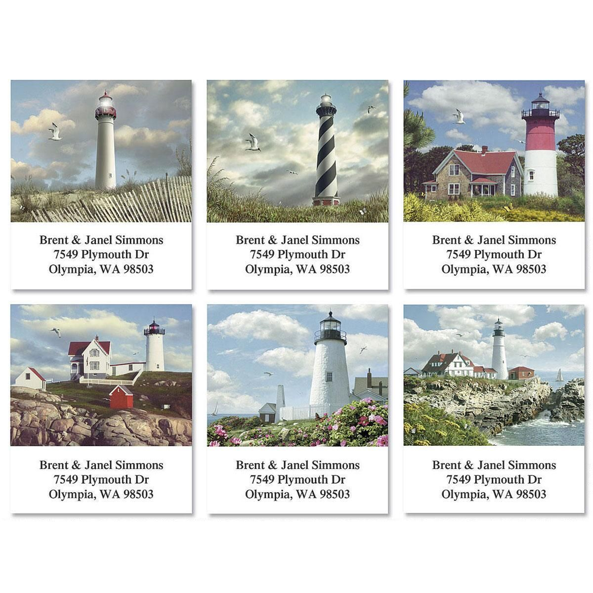 Seasons Lighthouses Select Return Address Labels  (6 Designs)
