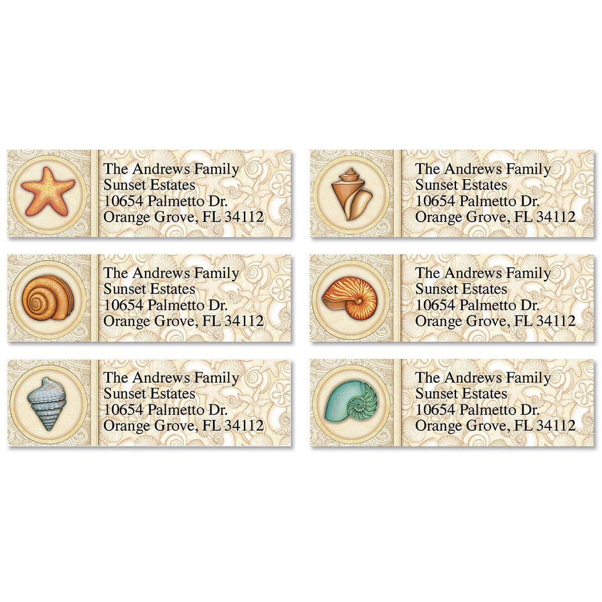 Sea Creatures Classic Address Labels  (6 Designs)