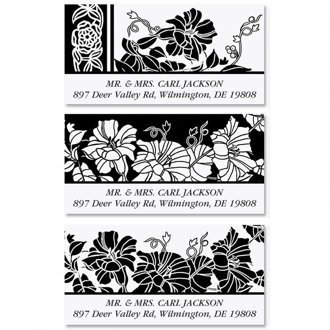 Black and White Deluxe Address Labels  (3 Designs)
