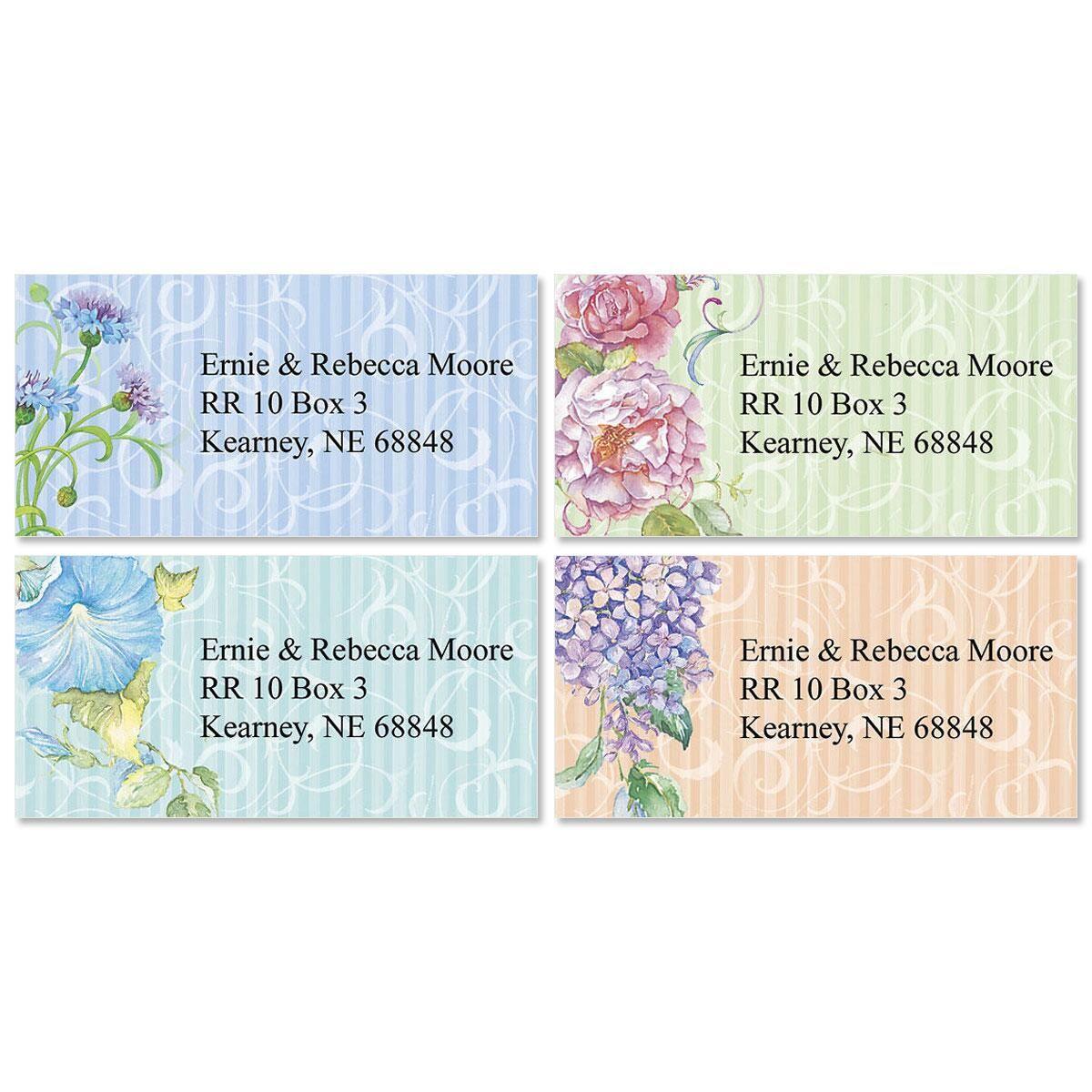 Elaborate Floral   Border Address Labels  (4 Designs)