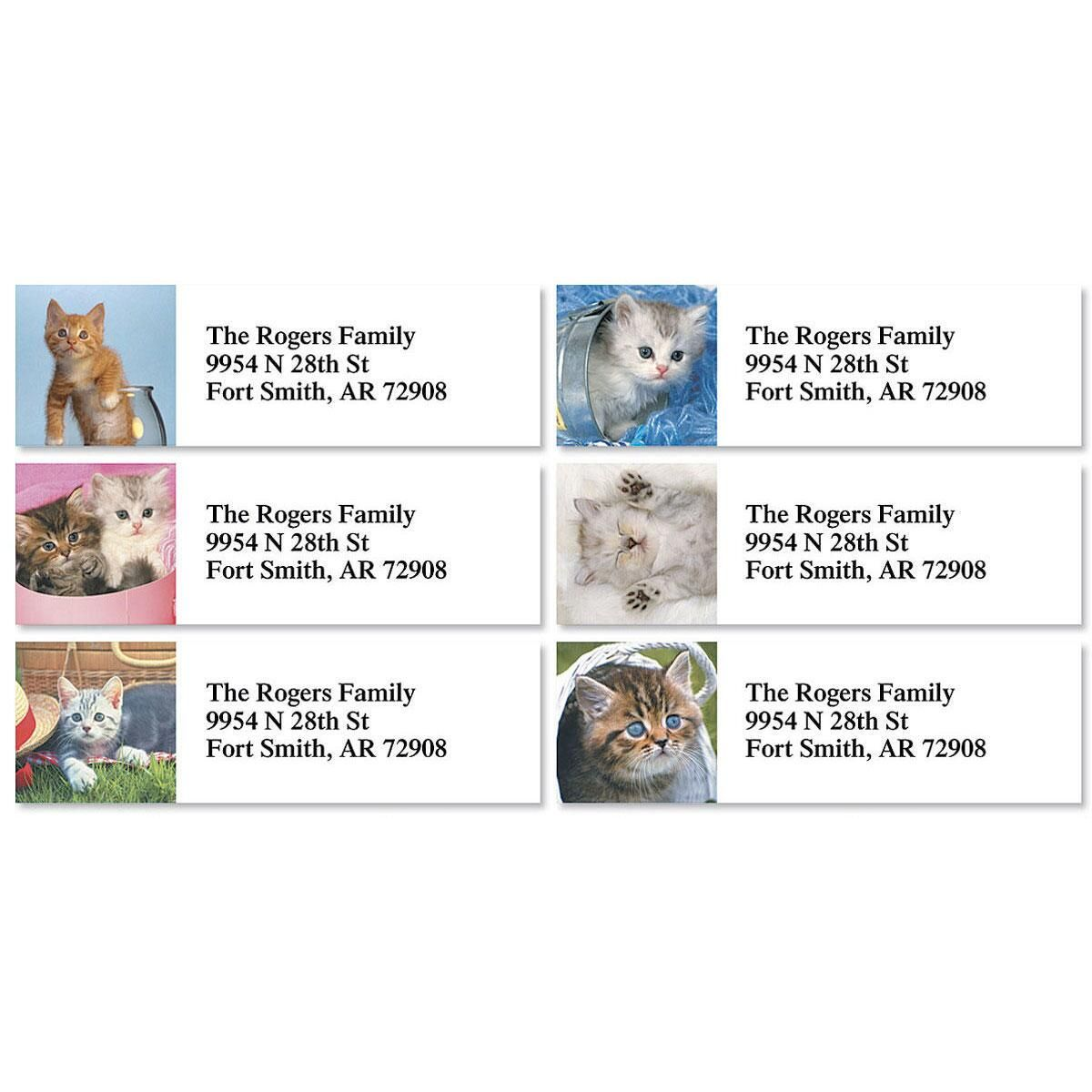 Kitty Kapers Classic Return Address Labels  (6 Designs)
