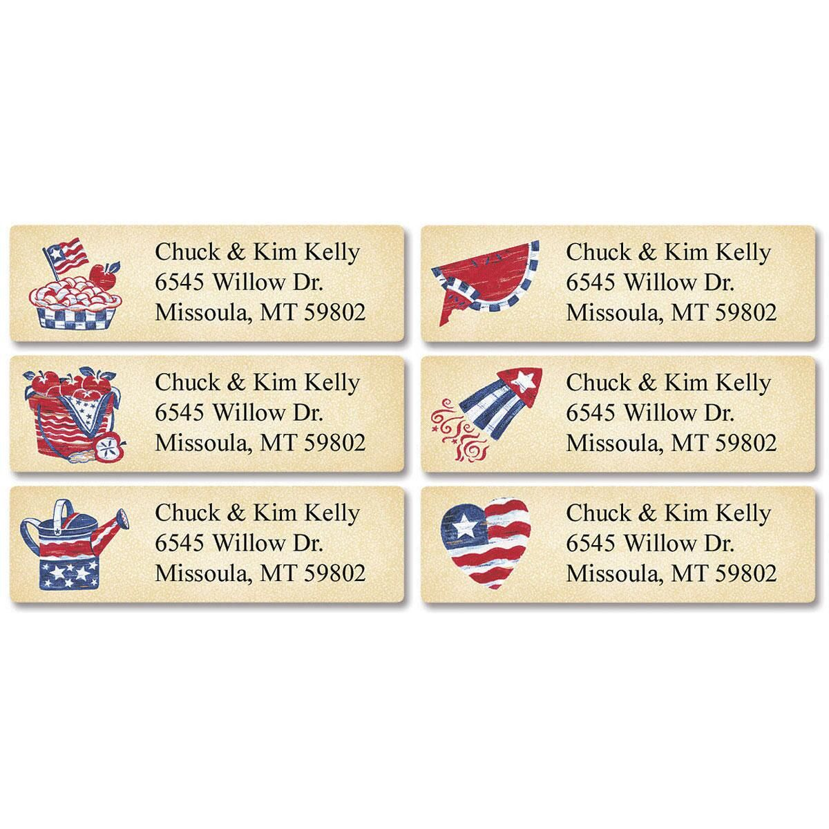 Country Americana  Classic Return Address Labels  (6 designs)