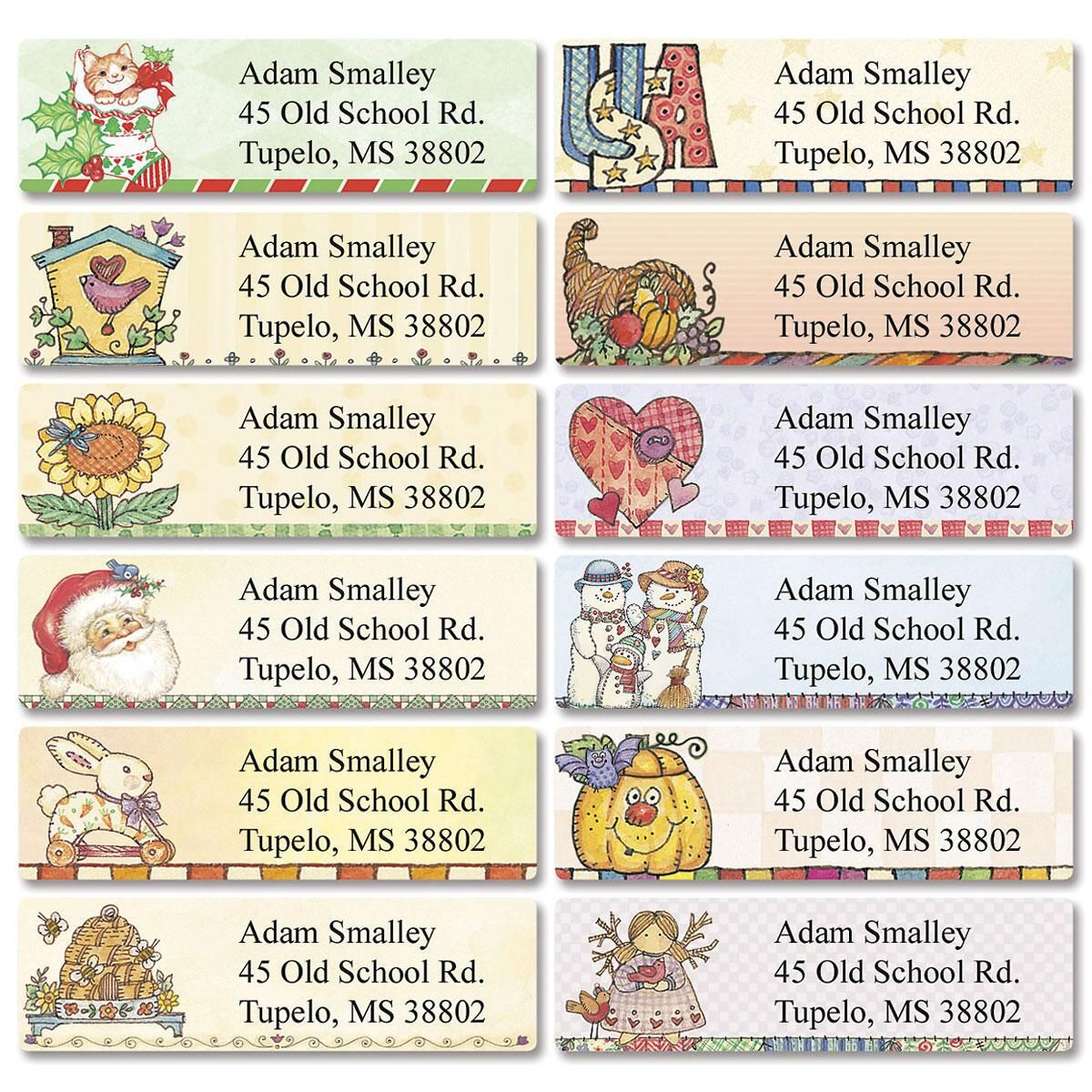 Everything Happy  Classic Return Address Labels   (12 designs)