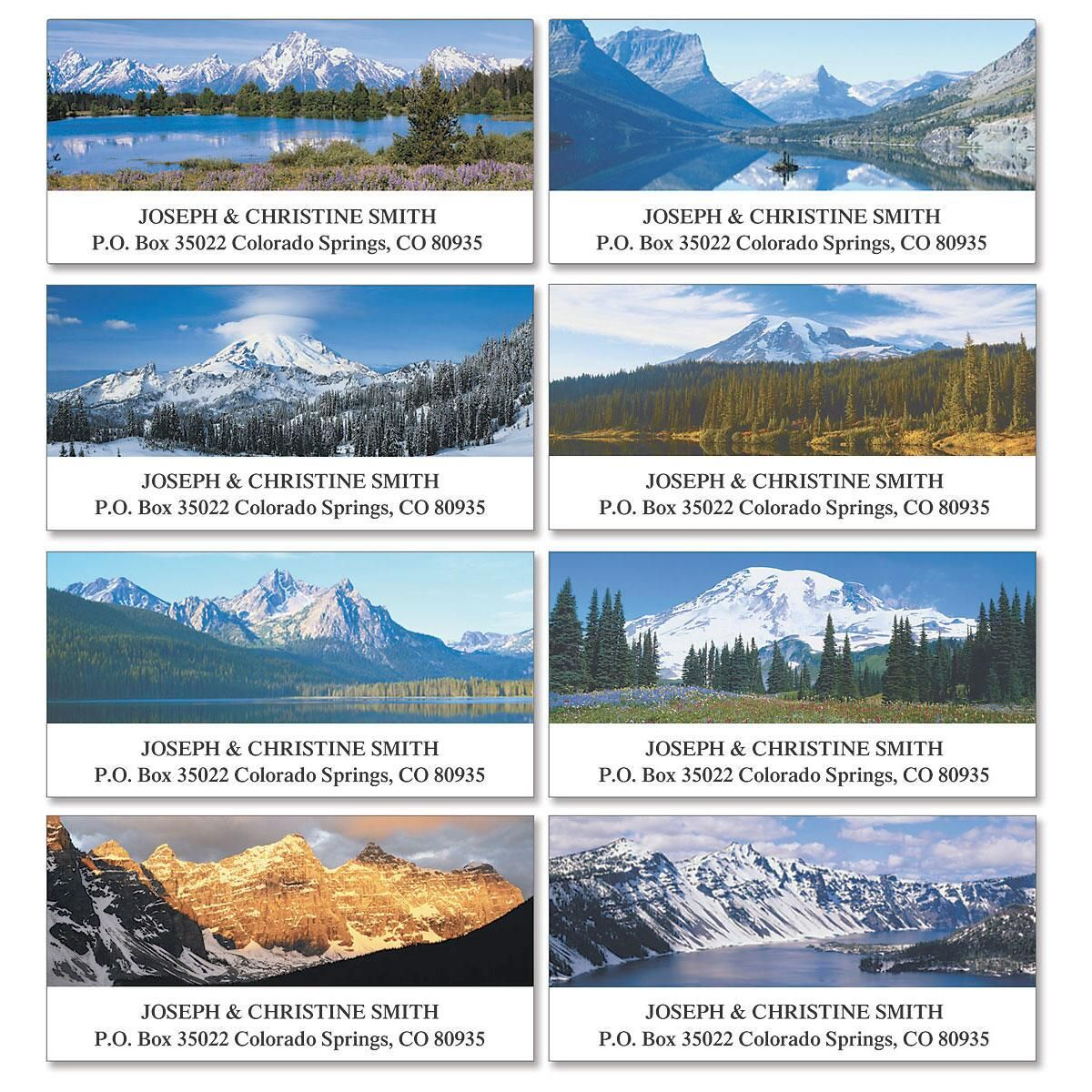 Nature's Majesty Deluxe Address Labels  (8 Designs)
