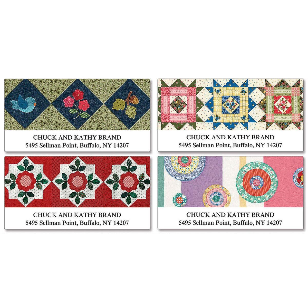 American Quilts   Deluxe Return Address Labels (4 Designs)