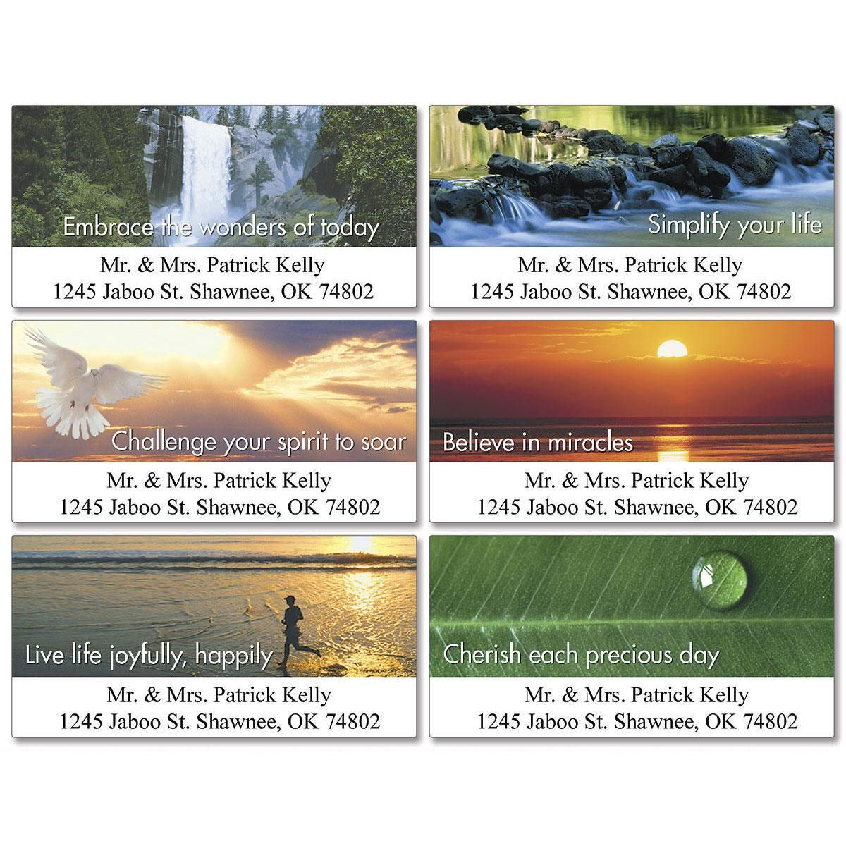 Be Positive  Deluxe Address Labels    (6 Designs)