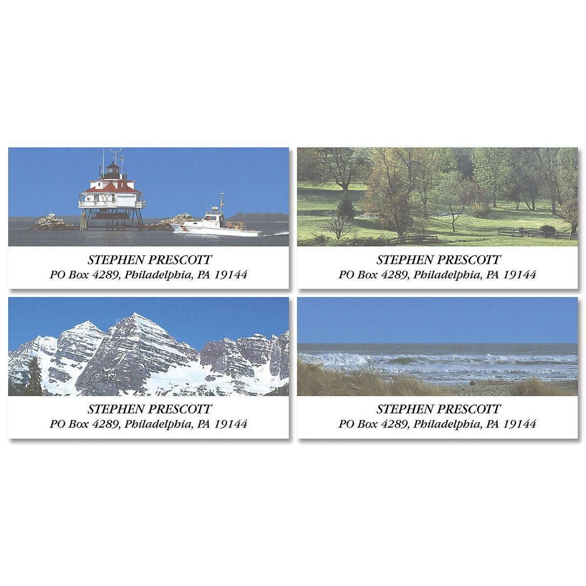 Scenes of America Deluxe Return Address Labels  (4 Designs)