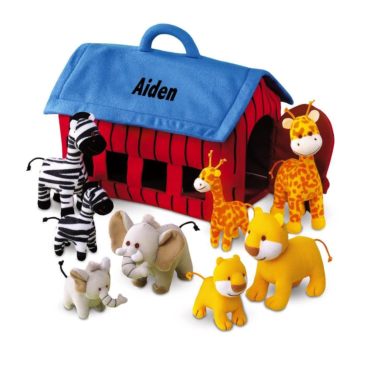 Plush Zoo Animals Play Set