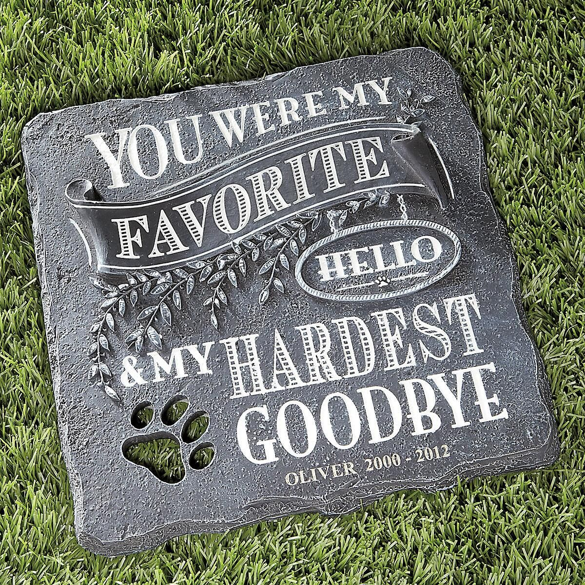 You Were My Favorite... Personalized Stepping Stone