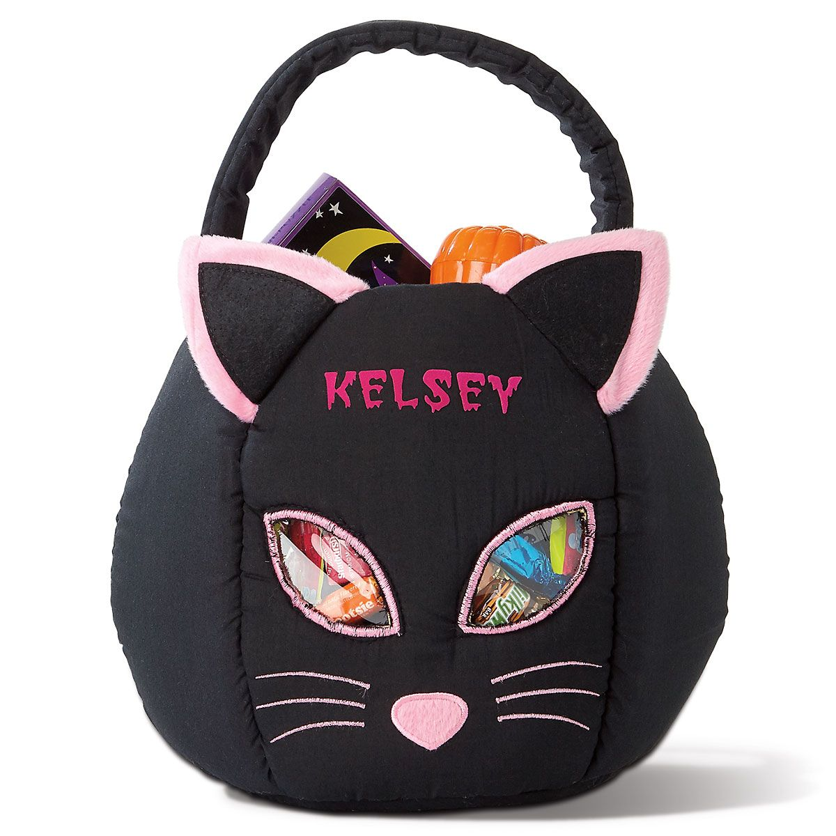 Black Cat Personalized Treat Bag