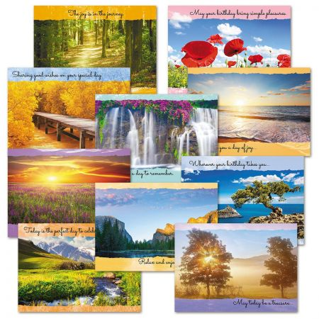 Inspirational Scenic Birthday Cards Value Pack