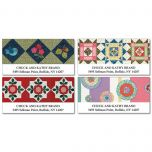 American Quilts   Deluxe Address Labels    (4 Designs)