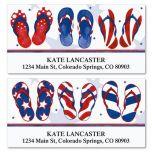 Americana Flip-Flops Deluxe Address Labels  (2 Designs)