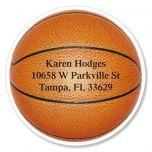 Basketball Diecut Address Labels
