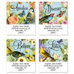 Bird Garden  Select Address Labels  (4 Designs)