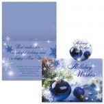 Blue Display Christmas Cards