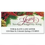 Bordered Deluxe Christmas Address Labels