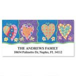 Bright Hearts Deluxe Address Labels