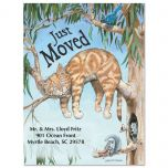 Cat Fun We've Moved Postcards