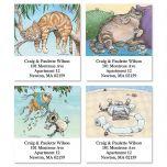 Cat Fun Select Address Labels  (4 Designs)