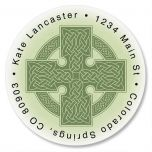 Celtic Cross Round Return Address Labels