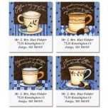 Coffee Smarts Select Address Labels  (4 Designs)