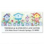 Garden Birdhouses  Deluxe Address Labels
