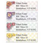 Garden Gingham  Classic Address Labels