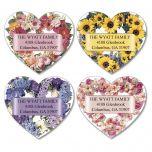 Heart Blossoms Diecut Address Labels  (4 Designs)