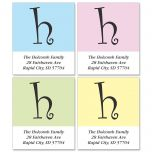 Initial Impact Select Address Labels  (4 designs)