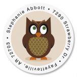 Owl Round Return Address Labels