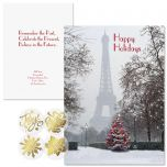 Paris in the Snow Foil Christmas Cards