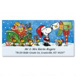 PEANUTS® Special Delivery Deluxe Christmas Address Labels