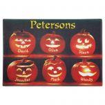 Pumpkin Family Personalized Doormat