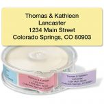 Pastel Rainbow Standard Rolled Address Labels  (5 Colors)