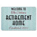 Retirement Home Personalized Doormat