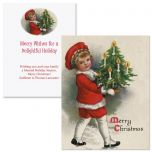 Victorian Christmas Note Card Size Christmas Cards