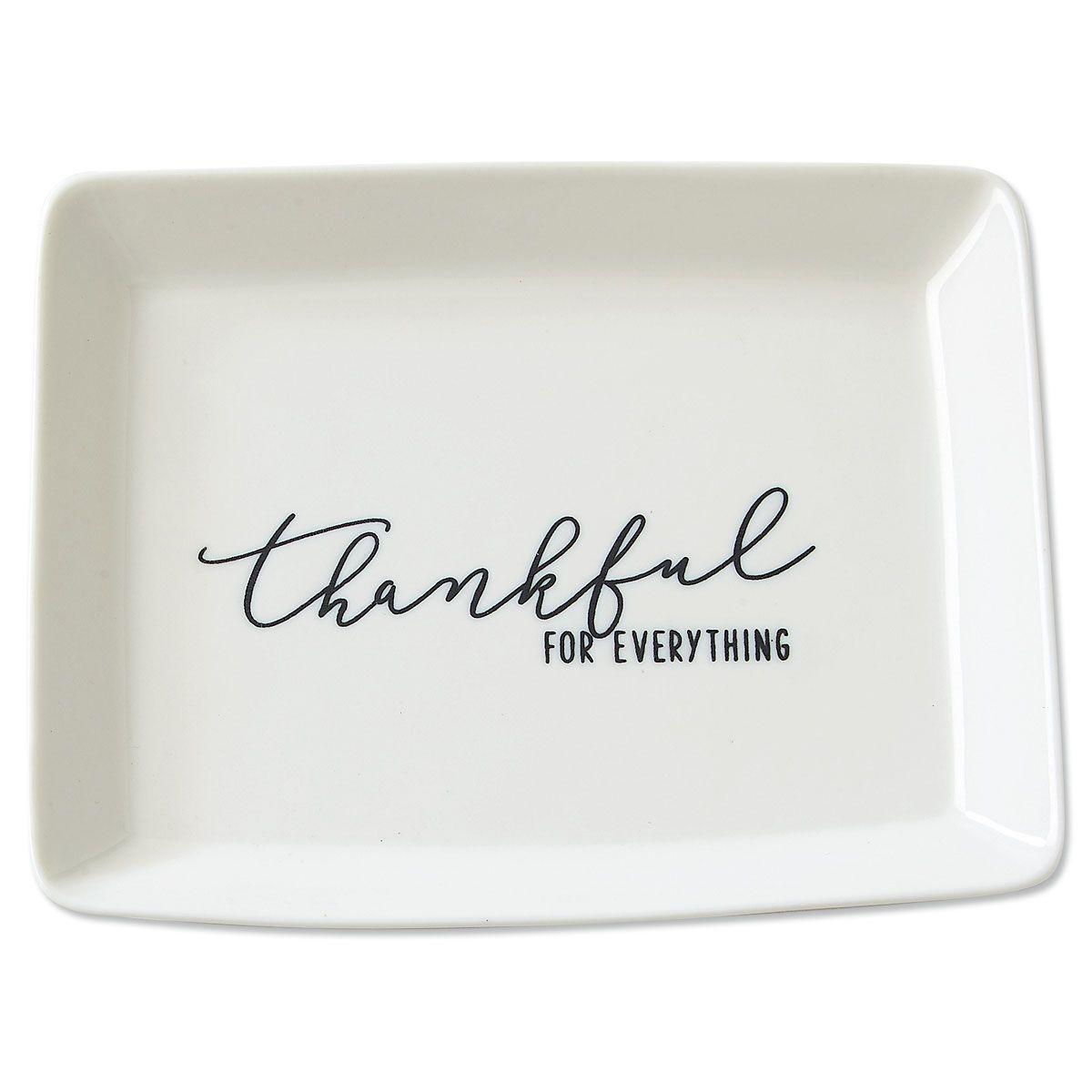 Thankful Porcelain Trinket Dish